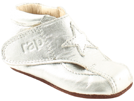 RAP BABY First Shoes Boots Velcro (Silver)